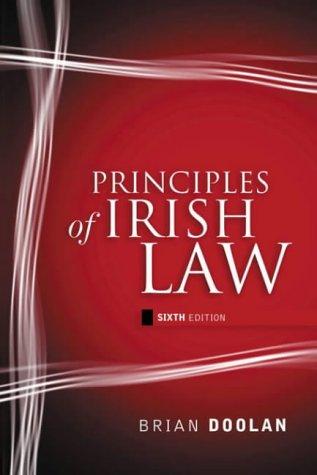 9780717134885: Principles of Irish Law