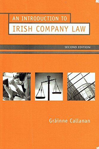 9780717135028: An Introduction to Irish Company Law