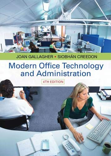 Modern Office Technology and Administration: Coghlan, Siobhan