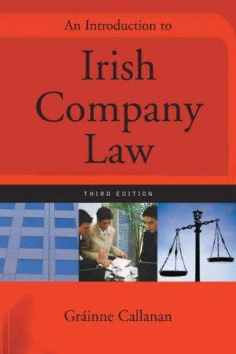 9780717141999: An Introduction to Irish Company Law