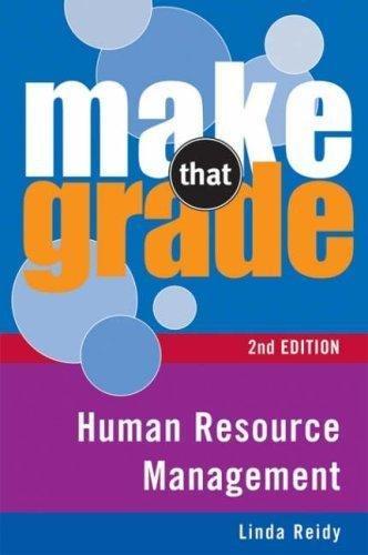 Human Resource Management (Make That Grade): Reidy, Linda