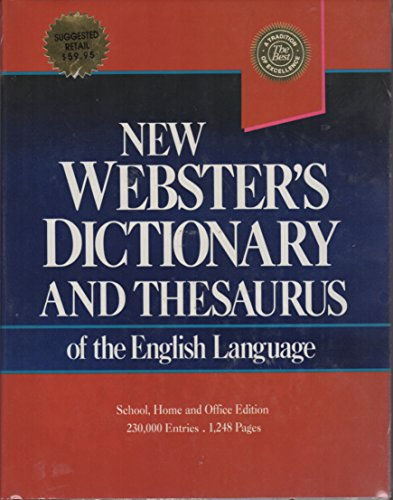 9780717246076: New Websters Dictionary and Thesaurus of the English Language