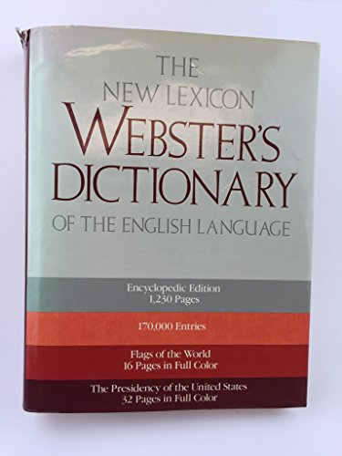 9780717246847: The New Lexicon Webster's Dictionary of the English Language 1 & 2