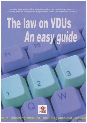 9780717626021: The Law on Vdus: an Easy Guide: Making Sure Your Office Complies with the Health and Safety (Display Screen Equipment) Regulations 1992 (as Amended in 2002) (Guidance booklet)