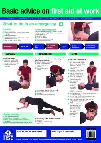 9780717661954: First Aid at Work Poster