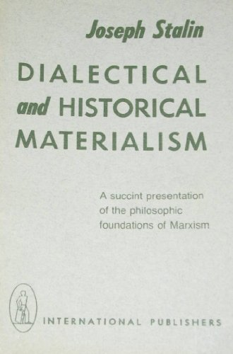 9780717800476: Dialectical and Historical Materialism