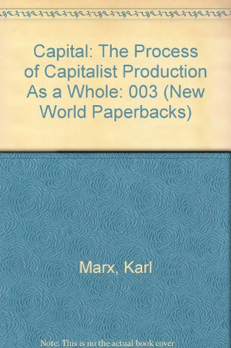Capital: The Process of Capitalist Production As: Karl Marx