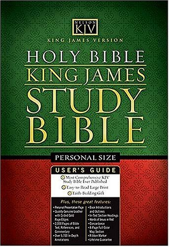 King James Study Bible Personal Size Edition: Thomas Nelson