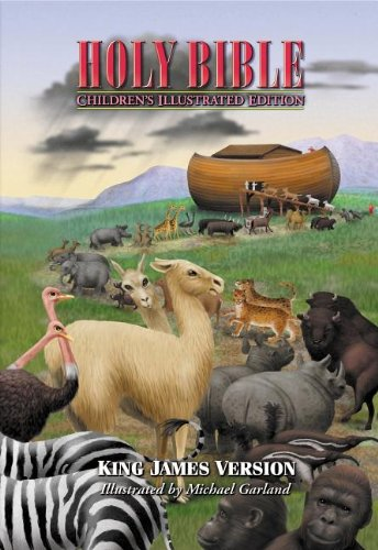 9780718000837: Holy Bible, Children's Illustrated Edition Beautiful Art To Draw Kids Into The Scriptures