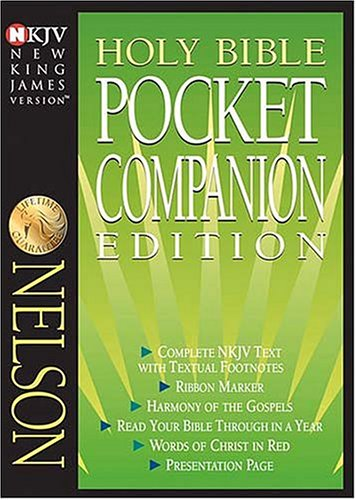 9780718001216: Holy Bible New King James Version Pocket Companion: Black Bonded Leather, Gilded-Gold Page Edges