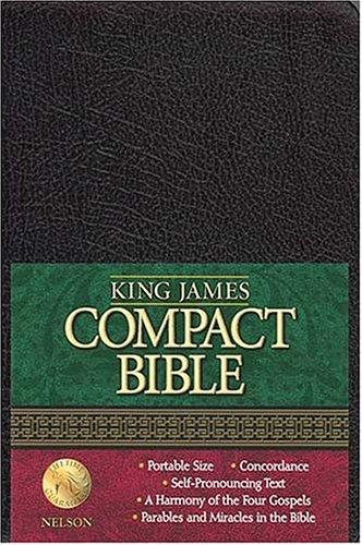 9780718001322: King James Compact Bible: Black Bonded Leather