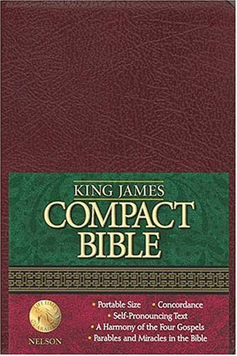 9780718001339: Holy Bible King James Bible: Burgundy Bonded Leather Compact Text