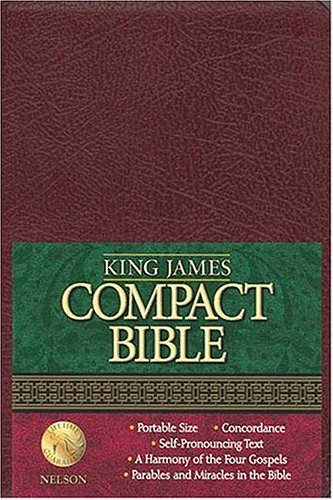 9780718001353: Holy Bible KJV Compact Text: Burgundy Bonded Leather