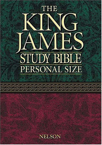 9780718001469: The King James Study Bible: King James Version, Burgundy, Bonded Leather, Personal Size