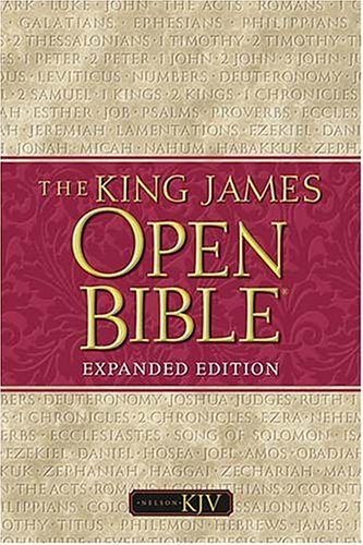 9780718002084: The King James Open Bible: Black Leather