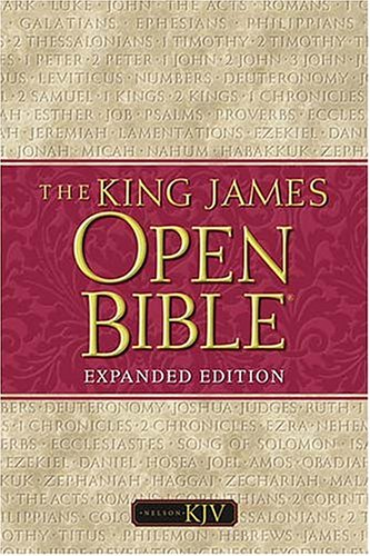 9780718002091: The King James Open Bible: Expanded Black Bonded Leather