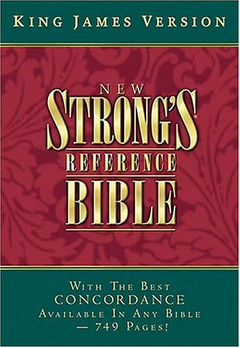 9780718002237: KJV New Strong's Reference Bible (Black Bonded Leather)