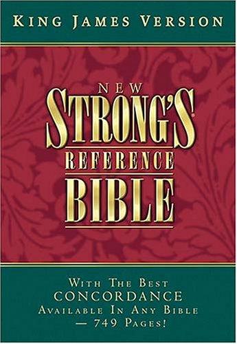 9780718002251: KJV New Strong's Reference Bible (Burgundy Bonded Leather)