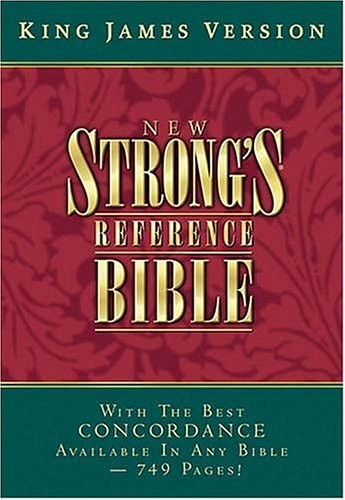 9780718002251: KJV New Strong's Reference Bible (Burgundy Bonded Leather)