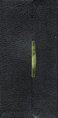 9780718003272: KJV, Checkbook Bible, Compact, Bonded Leather, Black, Wallet Style, Red Letter Edition