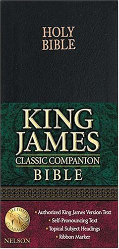 9780718003319: Holy Bible: King James Version Black Bonded Leather Classic Companion Bible