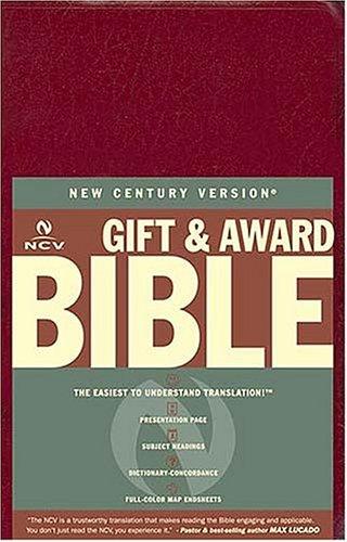 Gift & Award Bible, New Century Version (Burgundy Leatherflex)