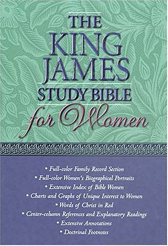 9780718003531: The King James Study Bible for Women (Black Leather)