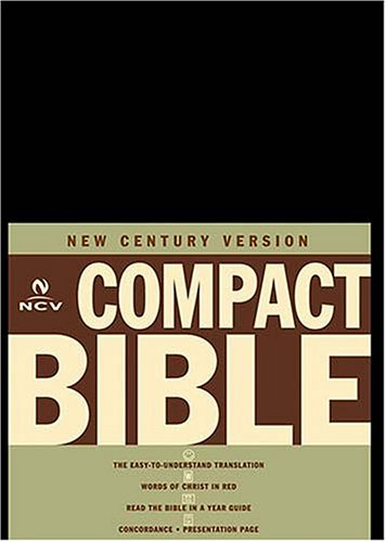 9780718006433: New Century Compact Bible (Black Bonded Leather)