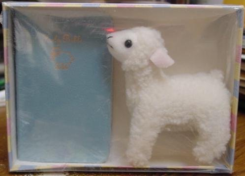 9780718007041: Little Lambs New Testament with Psalms New King James Bible Gift Set - Blue Bible and Plush Lamb