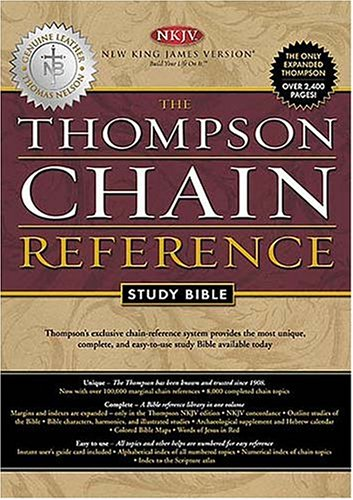 9780718008710: The Thompson Chain Reference Study Bible: New King James Version, Burgundy Genuine Leather, Gilded Gold Page Edges
