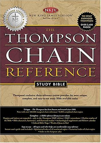 9780718008727: Holy Bible: Thompson Chain Reference, Study, New King James Version, Burgundy, Genuine Leather