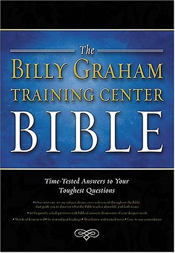 9780718008833: The Billy Graham Training Center Bible: Time-Tested Answers to Your Toughest Questions, Burgundy Bonded Leather Gilded-Gold Paged Edges, Thumb Indexed, New King James Version