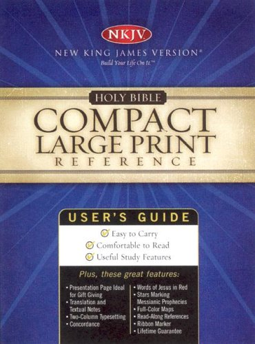 9780718008956: Holy Bible: New King James Version,blue/cream Soft Leather, Compact Large Print Reference