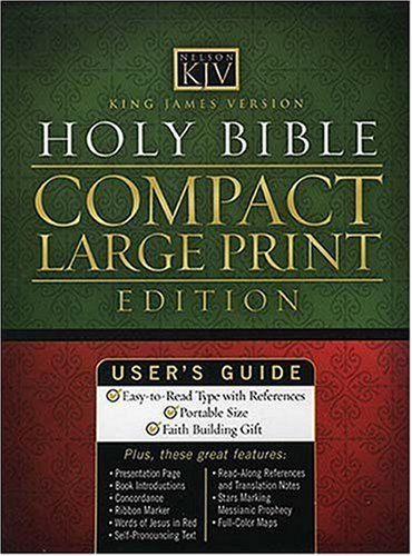 9780718008963: King James Compact Large Print Bible - Black