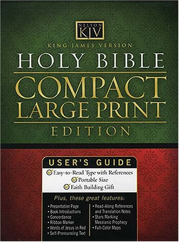 KJV Compact Large Print Reference Bible: Thomas Nelson