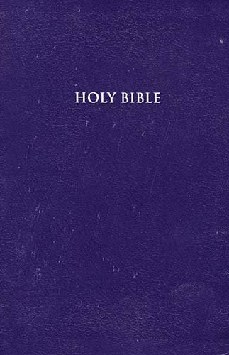 9780718009540: Holy Bible: KJV Deluxe Personal Size, Giant Print, Reference, Purple Bonded Leather (Bible KJV Large Print)