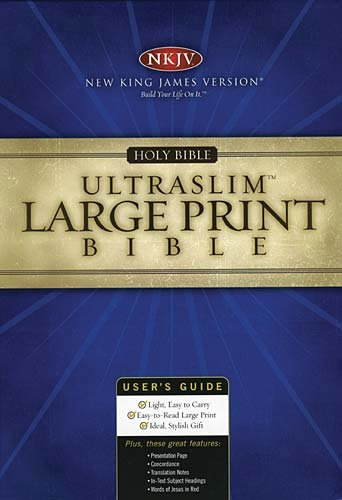 NKJV Large Print UltraSlim Bible: Thomas Nelson