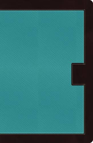 NKJV, Reference Bible, Giant Print, Imitation Leather, Turquoise/Brown, Indexed, Red Letter ...
