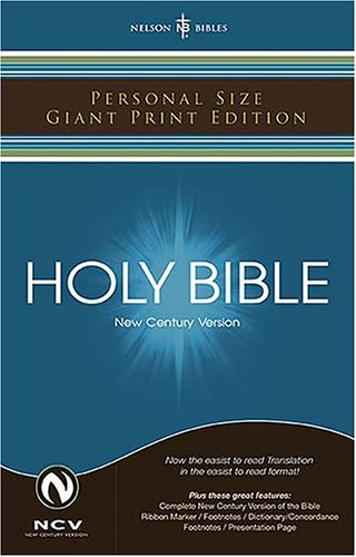 9780718013097: Holy Bible: New Century Version, Black, Bonded Leather, Personal Size Giant Print