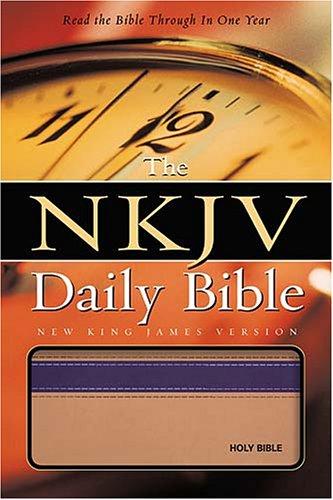 9780718013363: Daily Bible: New King James Version, Tan/purple
