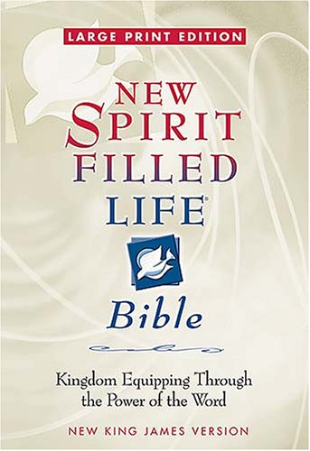 9780718014452: Large Print New Spirit-Filled Life Bible : Kingdom Equipping Through the Power of the Word(Burgundy Bonded Leather)