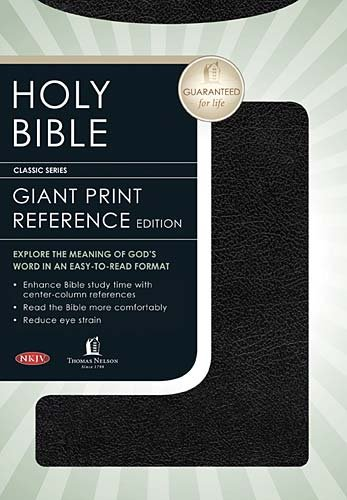 9780718015817: Holy Bible: New King James Version, Giant Print Reference Edition, Black Bonded Leather, Classic Series