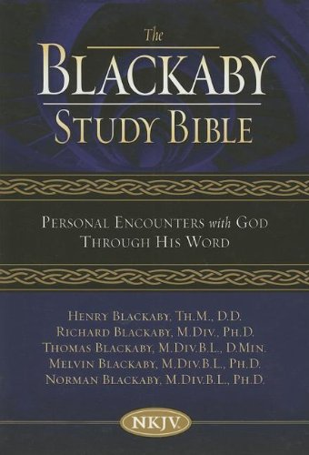 9780718016234: The Blackaby Study Bible: New King James Version, Burgundy, Bonded Leather, Personal Encounters With God Through His Word