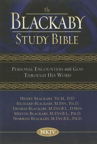 9780718016258: Blackaby Study Bible Black Genuine Leather: Personal Encounters With God Through His Word