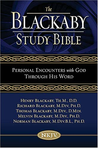 9780718016265: Blackaby Study Bible Black Genuine Leather: Personal Encounters With God Through His Word