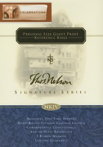 9780718018283: Deluxe Personal Size Giant Print Reference Bible: Signature Series Edition (New King James Version)