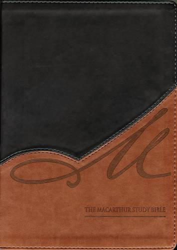 9780718020743: NKJV, The MacArthur Study Bible, Leathersoft, Black/Tan: Revised and Updated