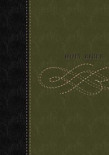 9780718024734: Holy Bible: King James Version, Personal Size Giant Print Reference, Black/Khaki Green Leathersoft