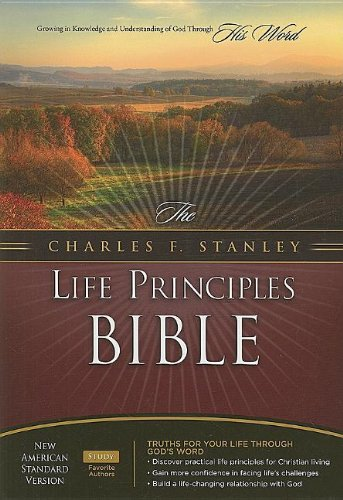9780718025045: The Charles F. Stanley Life Principles Bible: New American Standard Version Black Study With Thumb Index