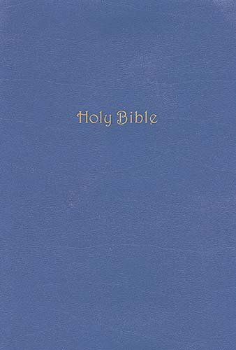 9780718025564: Holy Bible: King James Version, Hydrangea Blue, Bonded Leather, Study Bible, Supersaver Edition